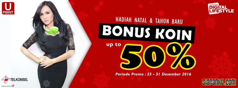 Bonus Koin 50% Siaranku Telkomsel